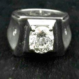 鑽石男戒指-正面圖