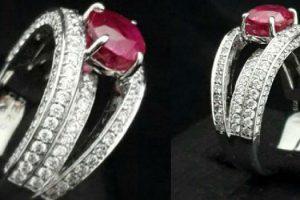 天然 紅寶石-戒指