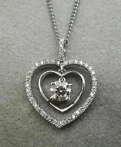 8心8箭.心-heart 鑽石項鍊