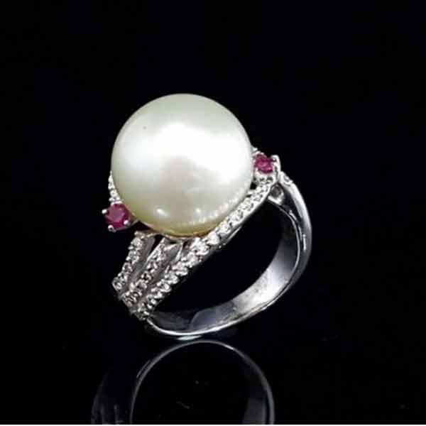 高雄買-天然南洋珍珠戒,珍珠