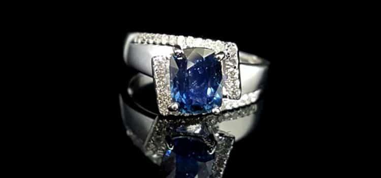 鍚蘭藍寶石戒指 女 產自 斯里蘭卡 2.14ct 含 寶石證書