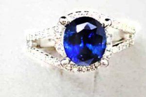斯里蘭卡 藍寶石戒指