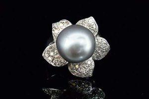 南洋珍珠戒指、珍珠12.2mm,