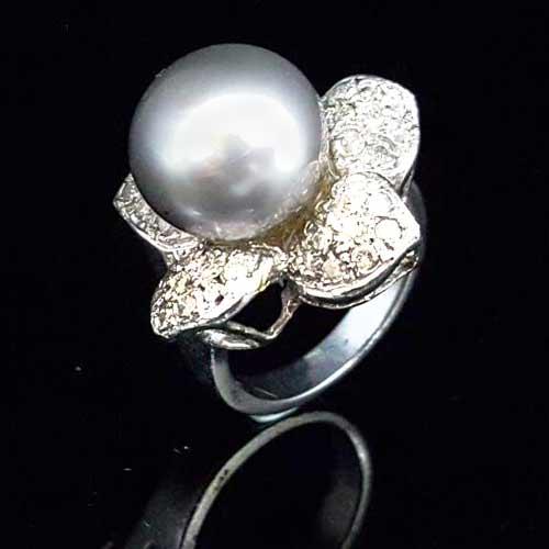 南洋珍珠鑽石戒指