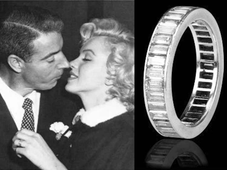 Marilyn Monroe 的結婚戒指,低調奢華,簡單優雅,至今依舊流行的設計款飾
