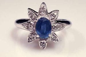 天然藍寶石戒指