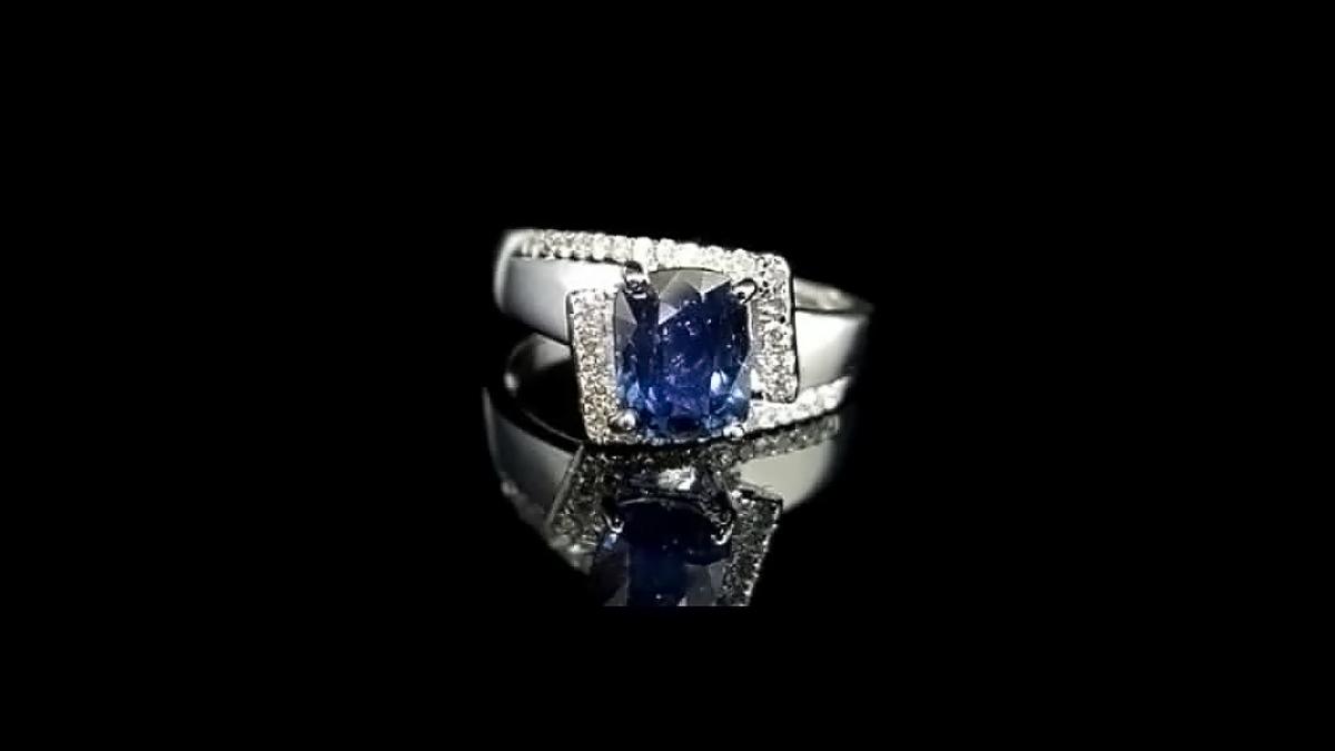 藍寶石女戒指