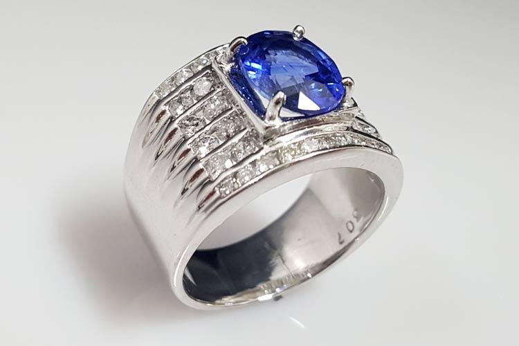 藍寶石男戒指