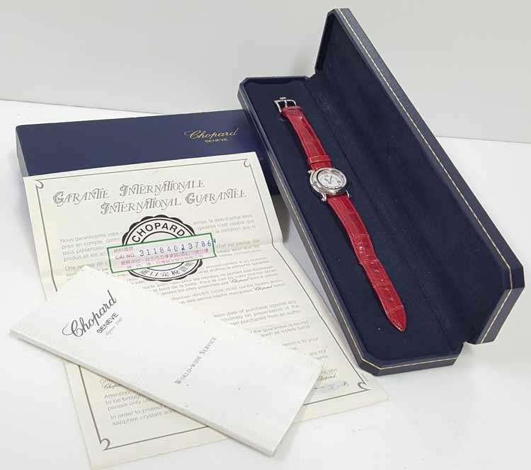 chopard 快樂鑽 錶 證書