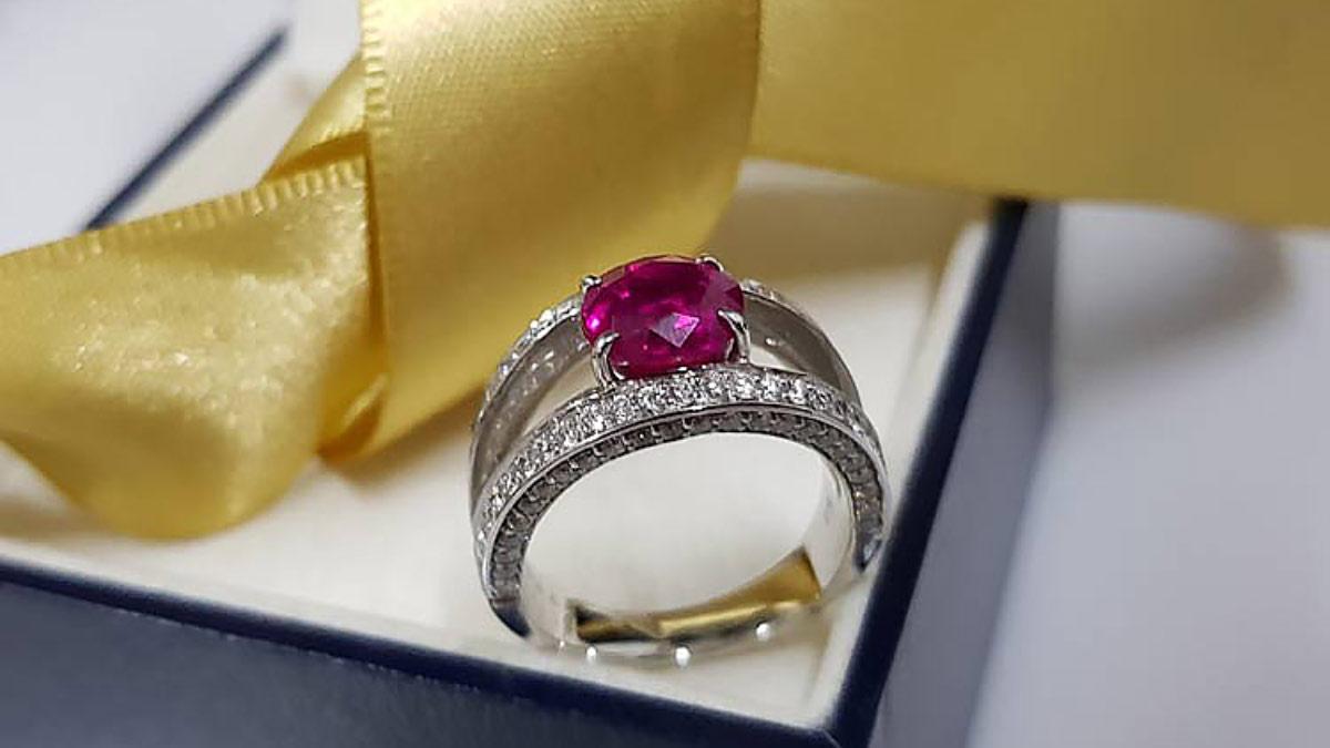 GIA-紅寶石戒指