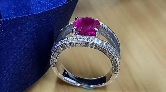 GIA 無燒紅寶石戒指