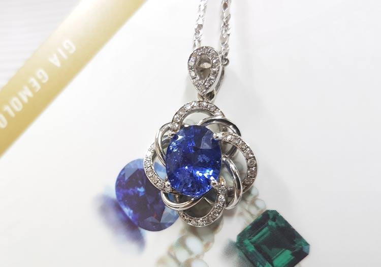 GIA 藍寶石項鍊