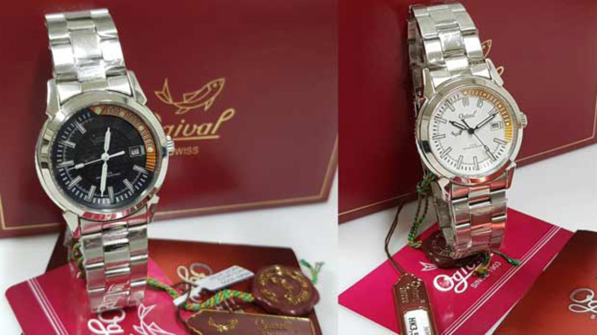 流行時尚錶 全新 愛其華 夜鷹係列 3696MS 黑白