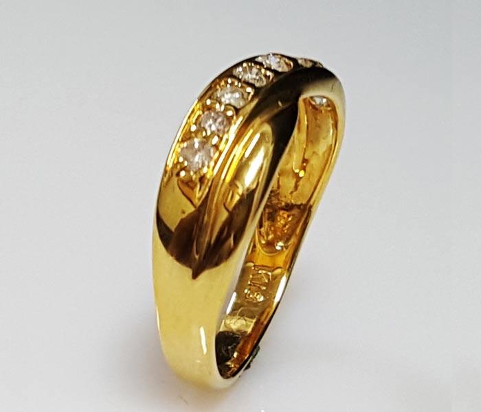 黃金線形鑽戒